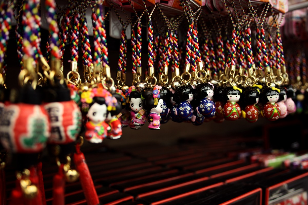 Small japanese dolls in Tokyo